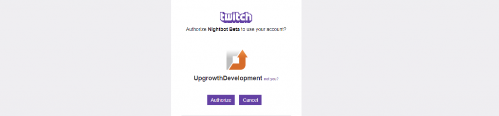 nightbot twitch authorize button